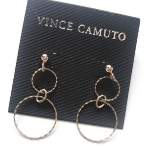 VINCE CAMUTO 2 LOOP DANGLING EARRINGS